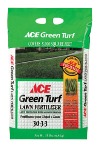 Ace Green Turf Lawn Fertilizer Covers 5 000 Sq Ft Or 15 Provides Nutrients For Thick Sy Gr Keeps Greener Longer Builds Strong