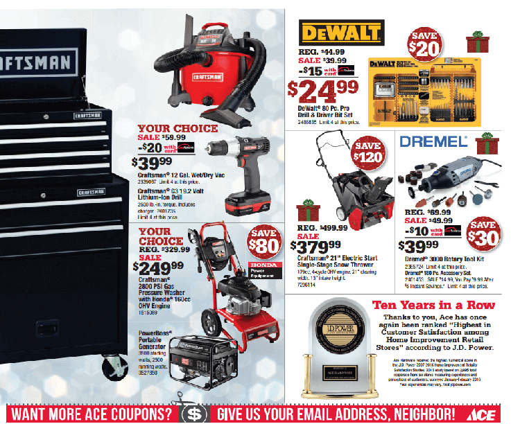 Thanksgiving Sale Page 4b Sneade S Ace Home Centers