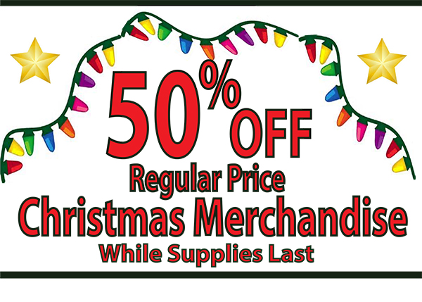 50% Off All Christmas Merchandise at Sneade's - Sneade's ...