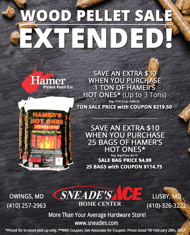 Wood Pellet Promo Extended Email Sneade S Ace Home Centers